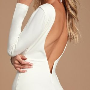 Lulus White Long Sleeve Dress